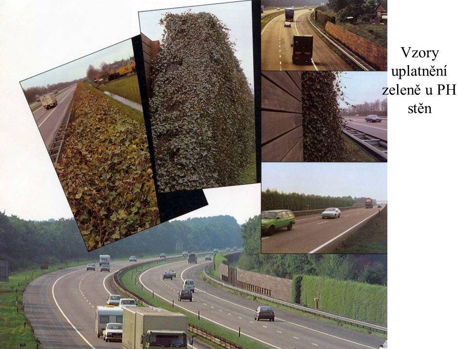 Vzory uplatnění zeleně u PH stěn