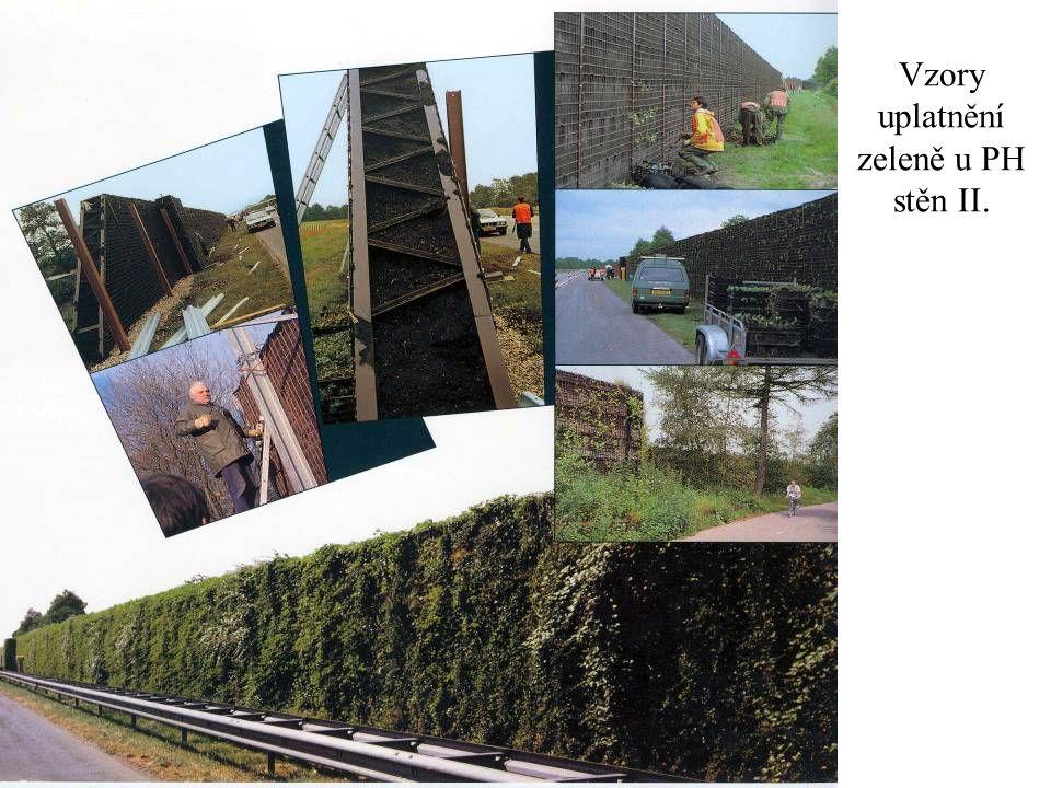 Vzory uplatnění zeleně u PH stěn II.