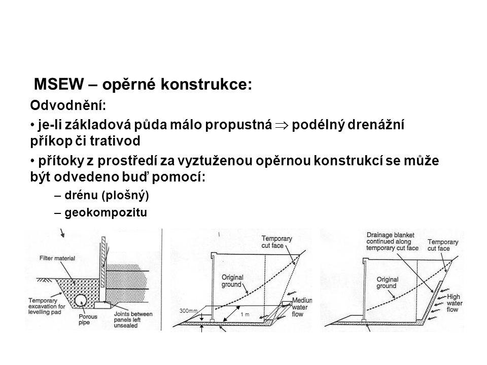 MSEW – opěrné konstrukce: