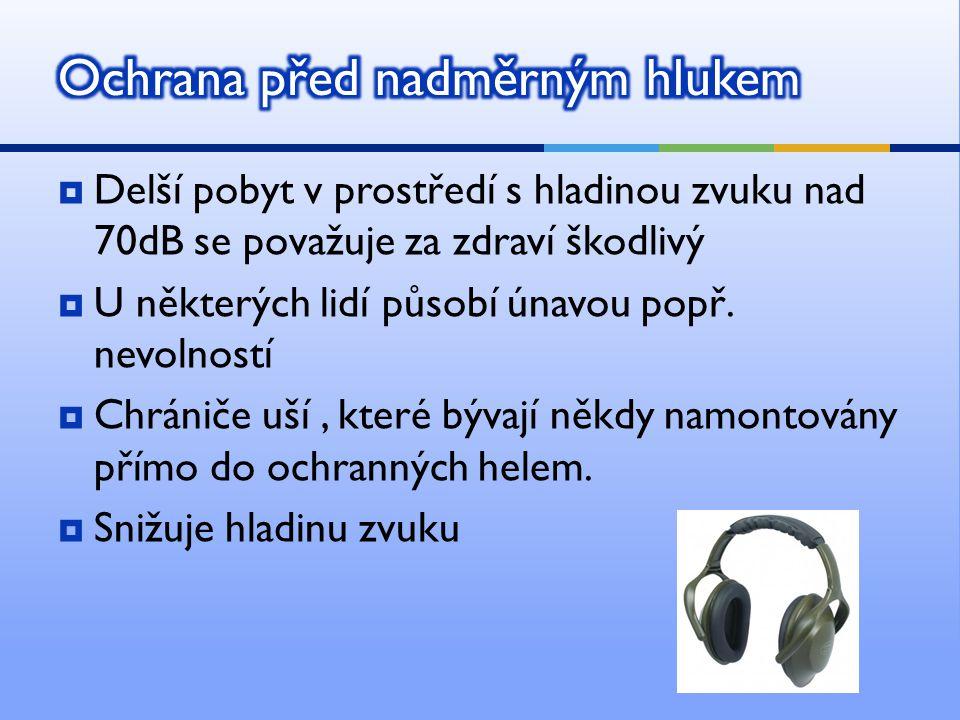 Ochrana před nadměrným hlukem