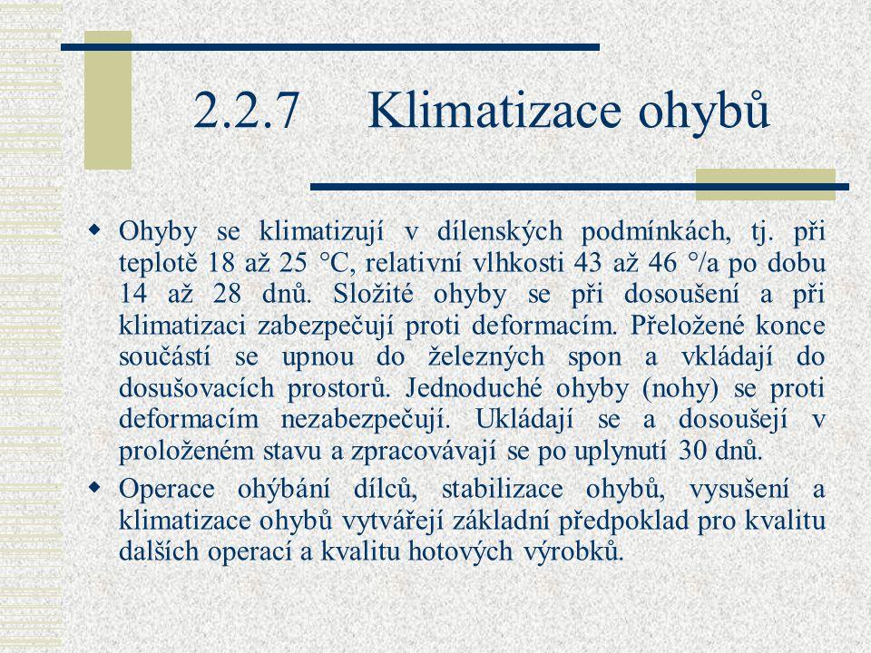 2.2.7 Klimatizace ohybů