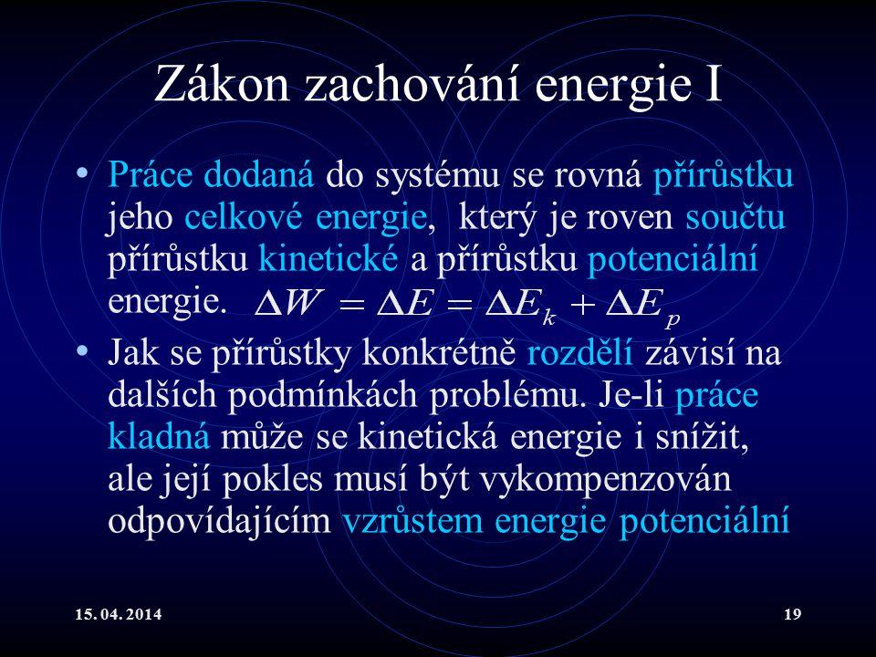 Zákon zachování energie I
