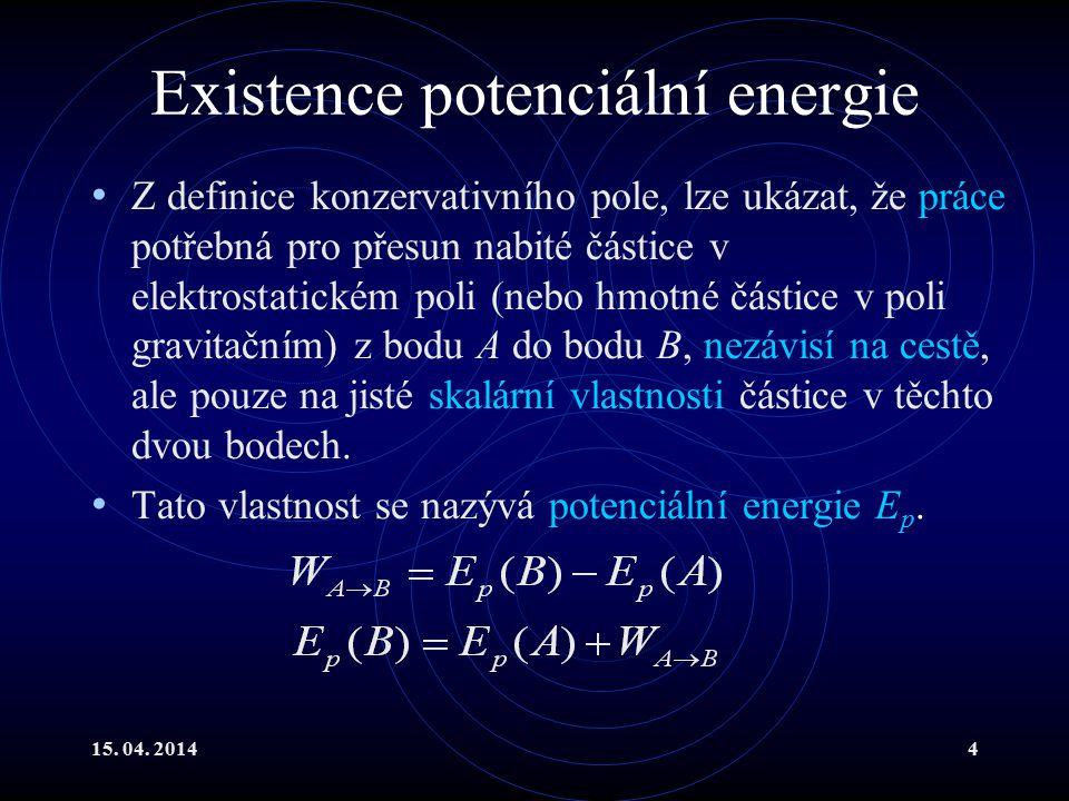 Existence potenciální energie