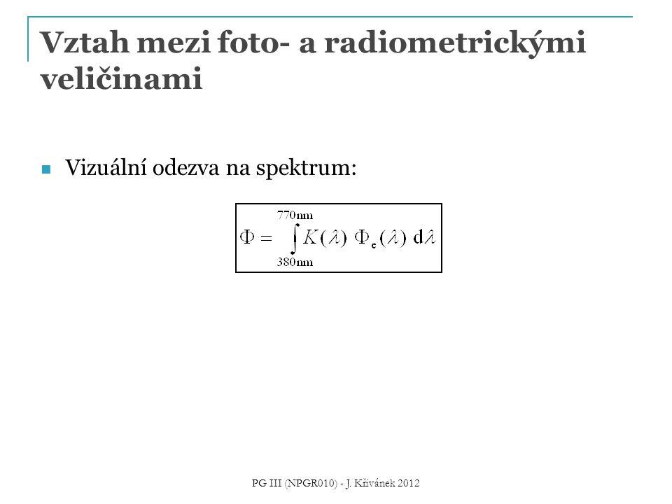 Vztah mezi foto- a radiometrickými veličinami