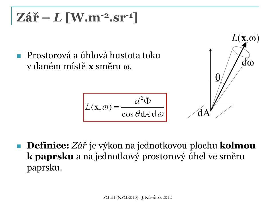 PG III (NPGR010) - J. Křivánek 2012