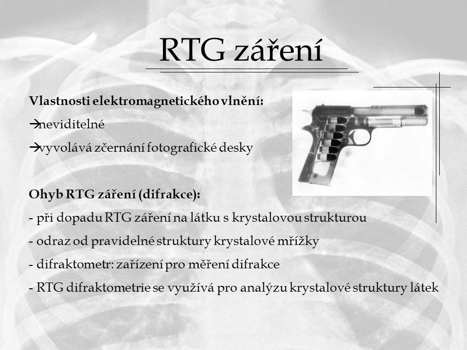 RTG záření Vlastnosti elektromagnetického vlnění: neviditelné