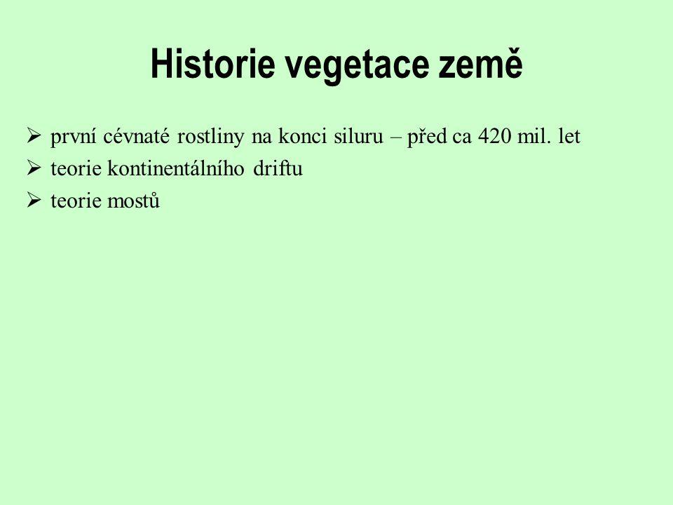Historie vegetace země