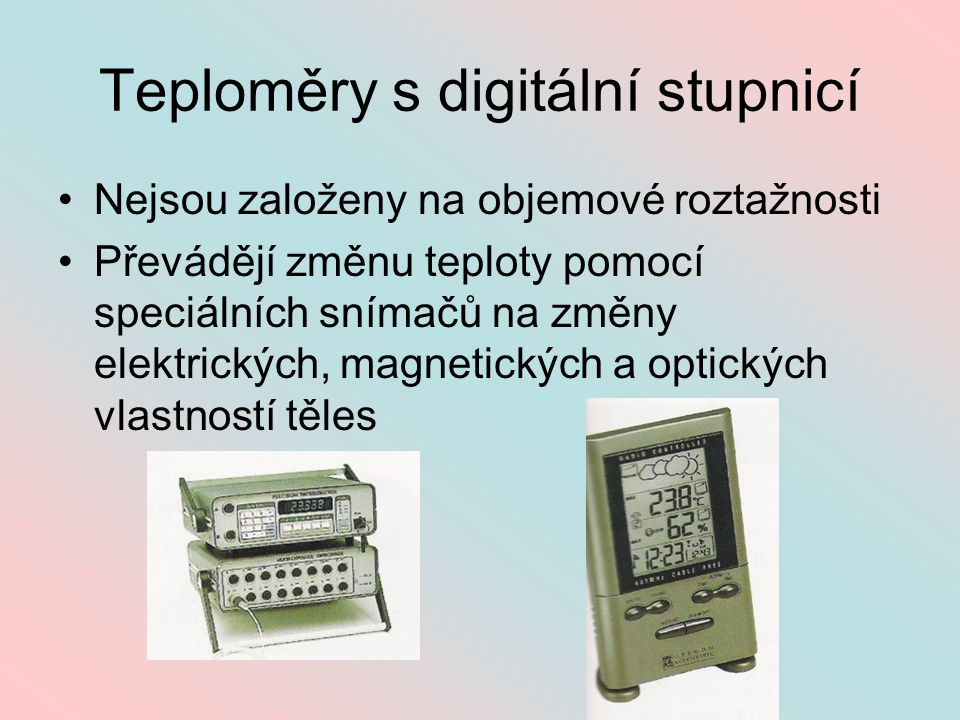Teploměry s digitální stupnicí