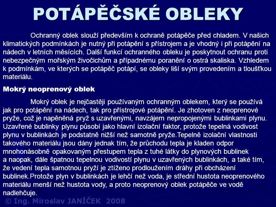 POTÁPĚČSKÉ OBLEKY