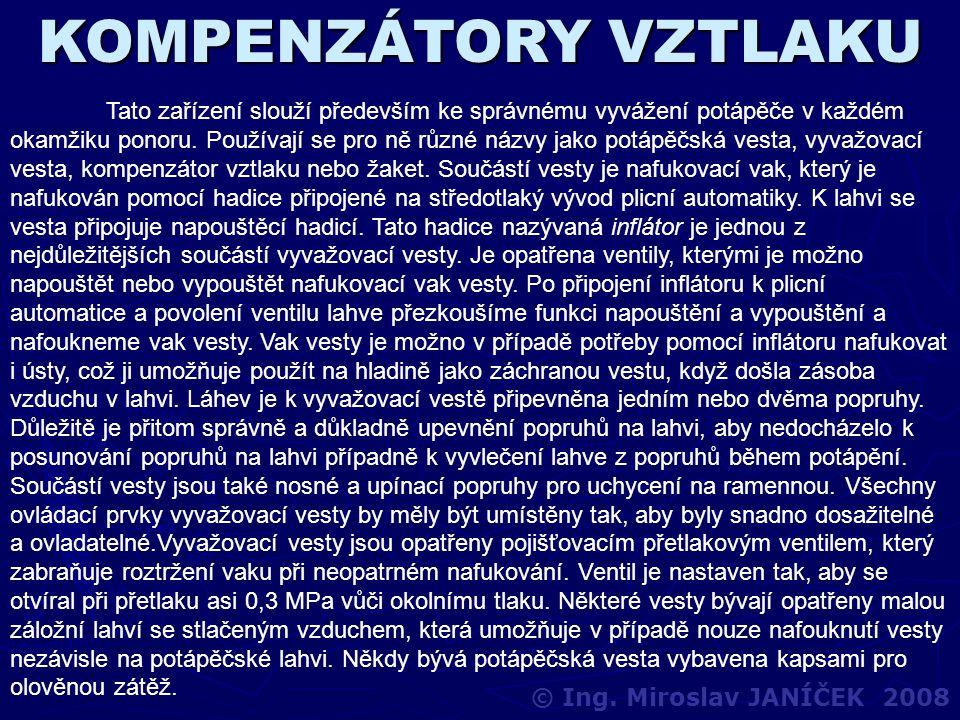 KOMPENZÁTORY VZTLAKU