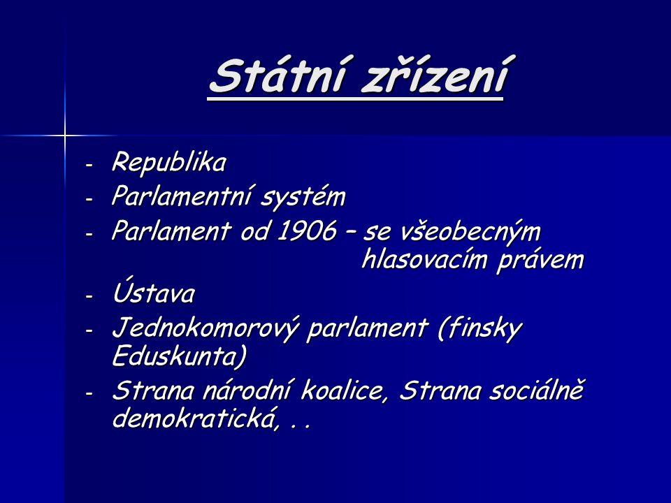 Státní zřízení Republika Parlamentní systém