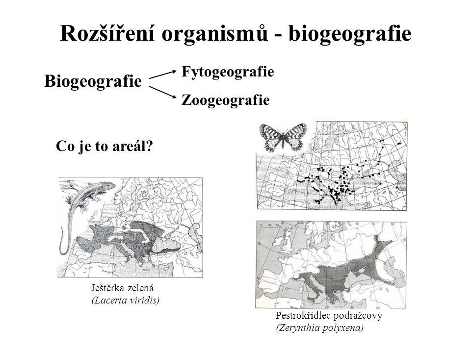 Rozšíření organismů - biogeografie
