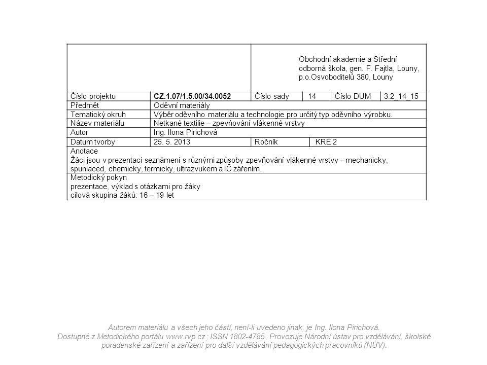 Obchodní akademie a Střední odborná škola, gen. F. Fajtla, Louny, p. o