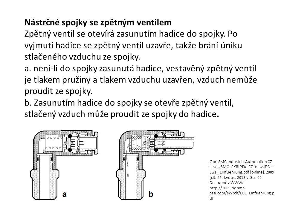 Nástrčné spojky se zpětným ventilem