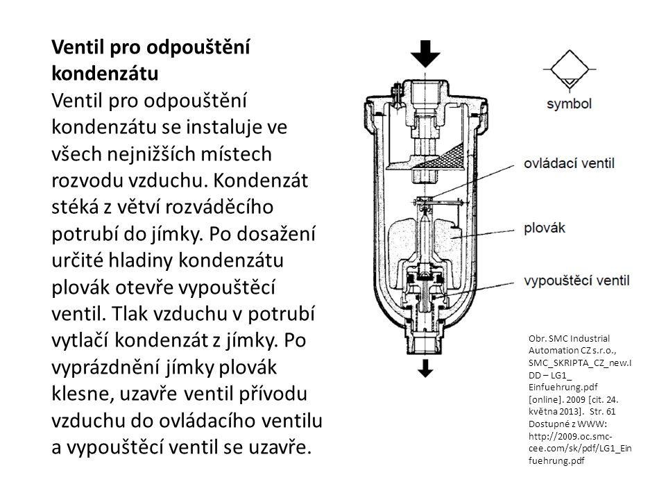 Ventil pro odpouštění kondenzátu