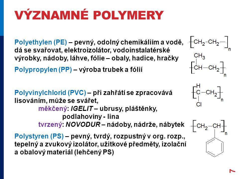 významné polymery