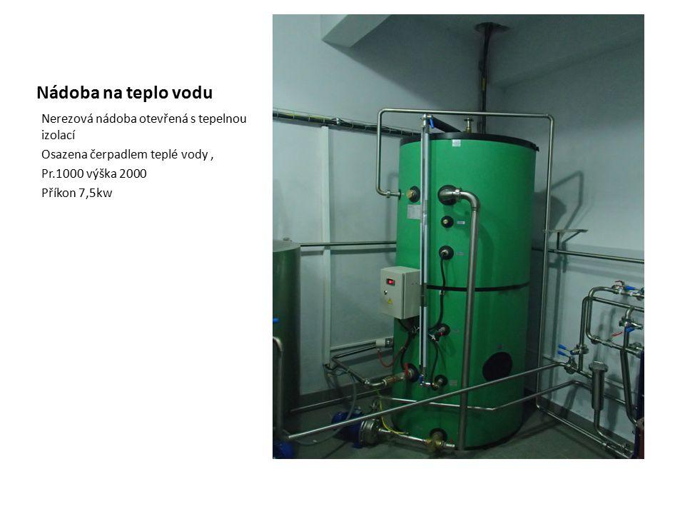 Nádoba na teplo vodu Nerezová nádoba otevřená s tepelnou izolací