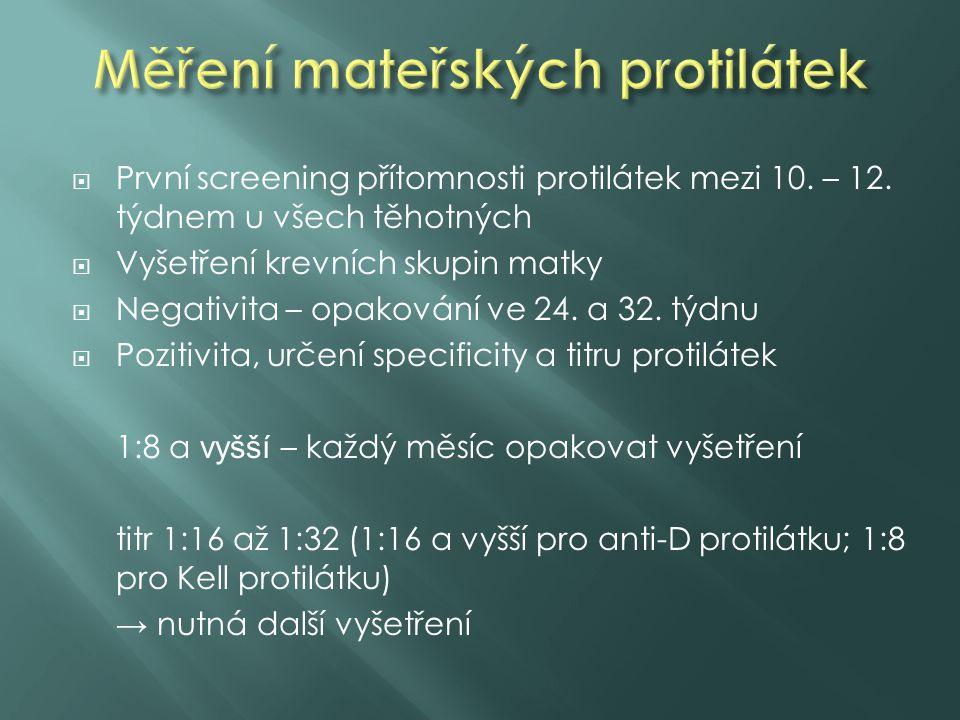 Měření mateřských protilátek
