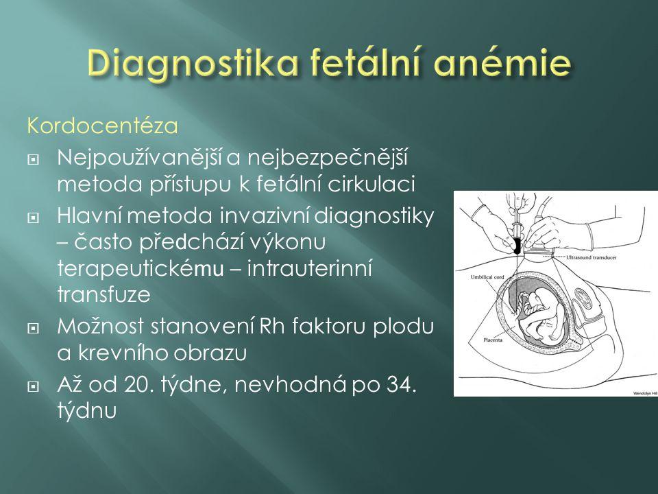Diagnostika fetální anémie