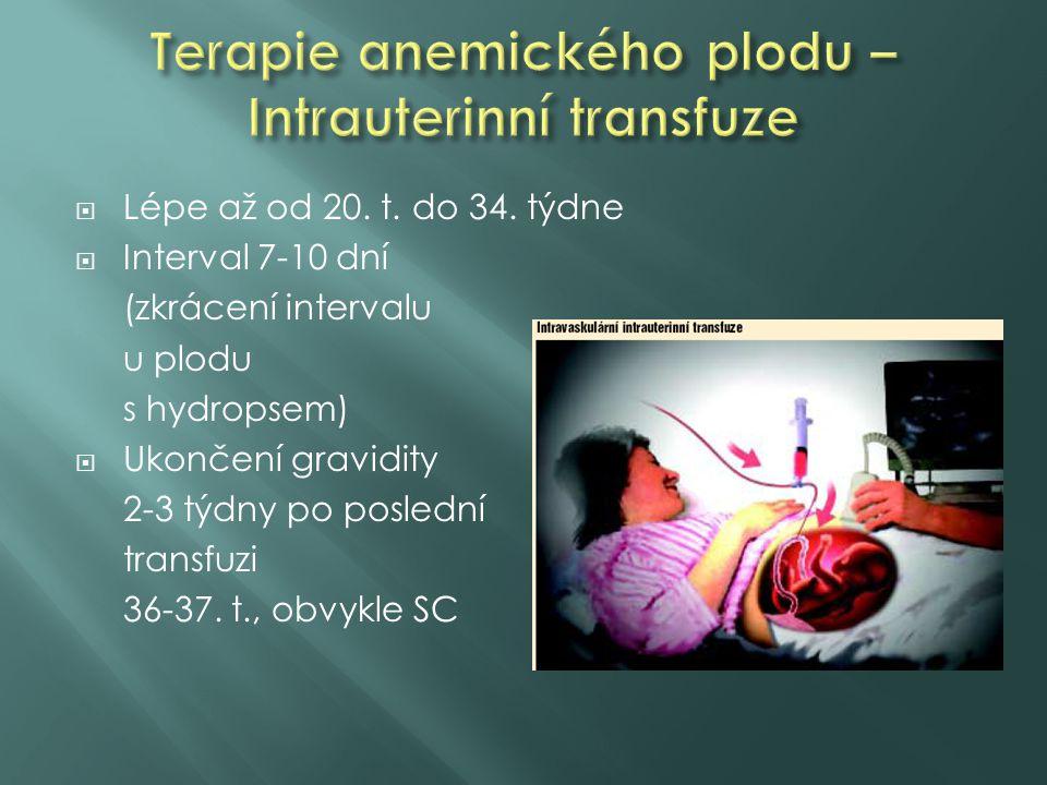 Terapie anemického plodu – Intrauterinní transfuze