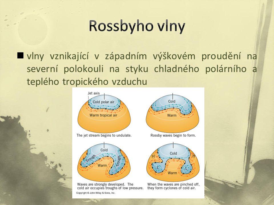 Rossbyho vlny vlny vznikající v západním výškovém proudění na severní polokouli na styku chladného polárního a teplého tropického vzduchu.