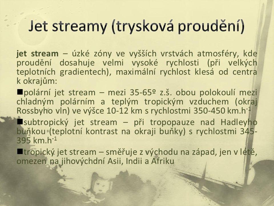 Jet streamy (trysková proudění)