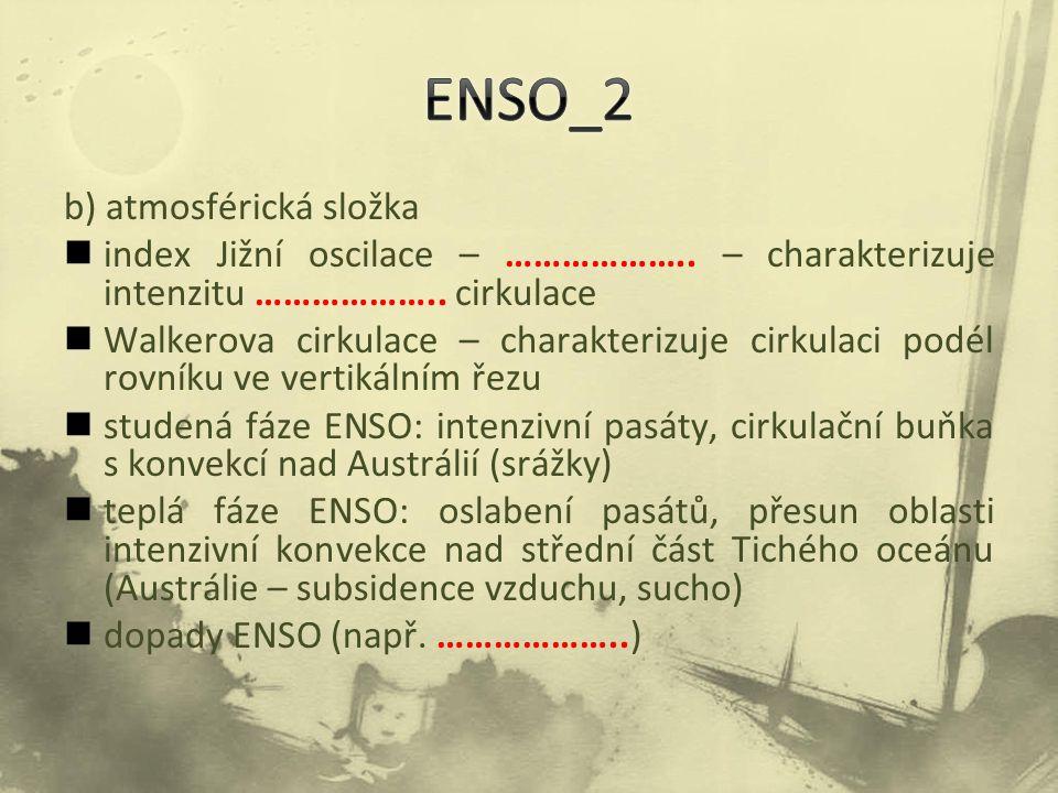 ENSO_2 b) atmosférická složka