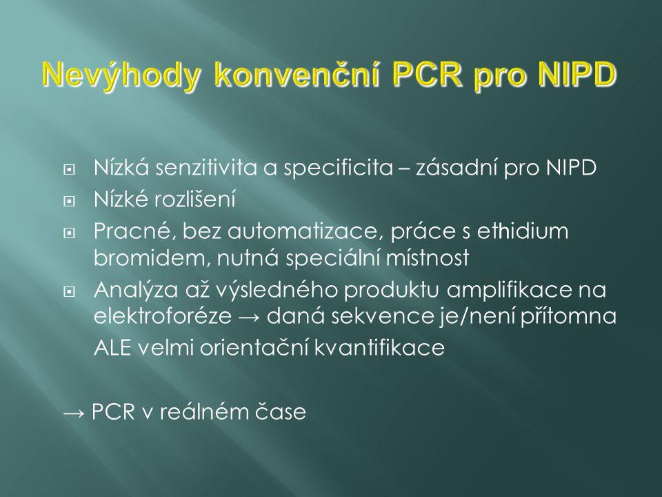 Nevýhody konvenční PCR pro NIPD
