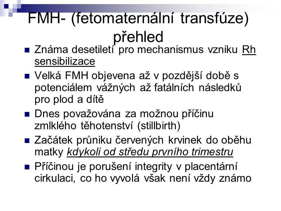 FMH- (fetomaternální transfúze) přehled