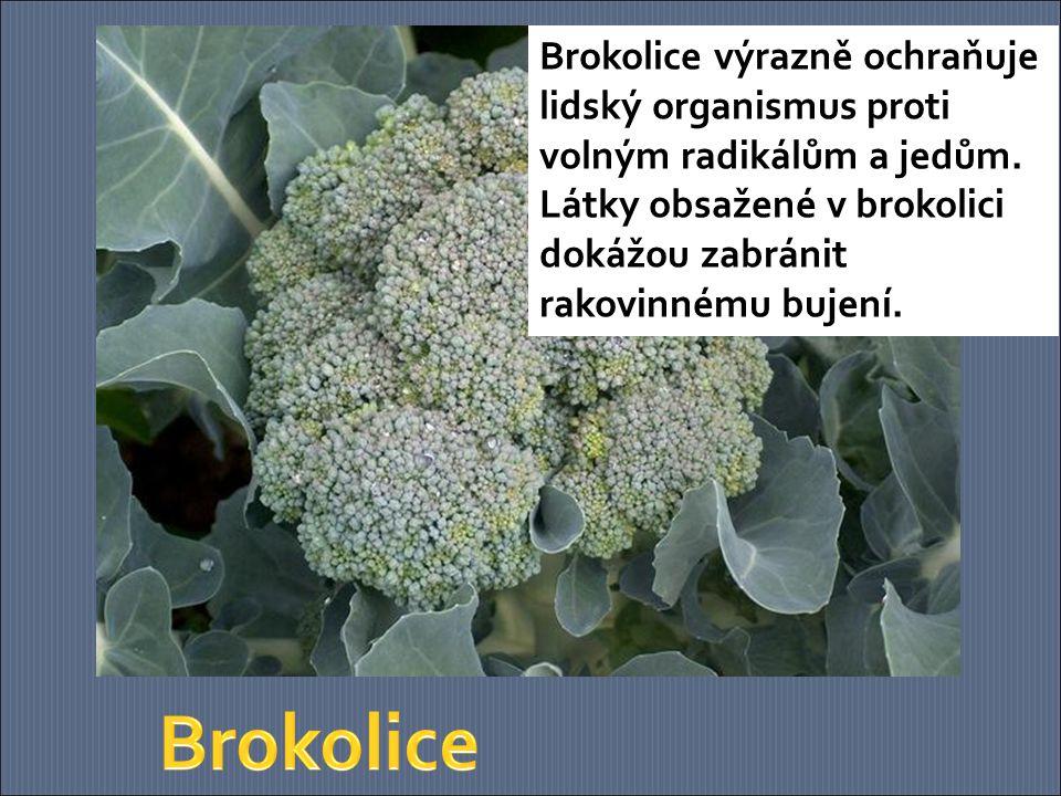 Brokolice výrazně ochraňuje lidský organismus proti volným radikálům a jedům. Látky obsažené v brokolici dokážou zabránit rakovinnému bujení.