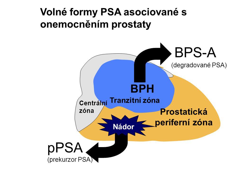 BPS-A pPSA BPH Volné formy PSA asociované s onemocněním prostaty