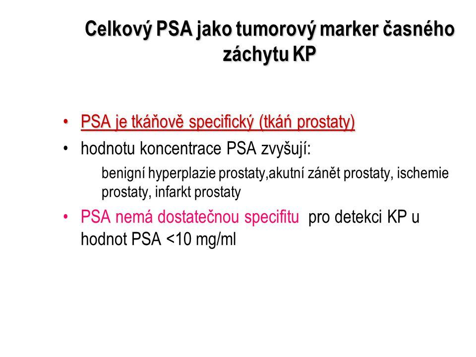 Celkový PSA jako tumorový marker časného záchytu KP