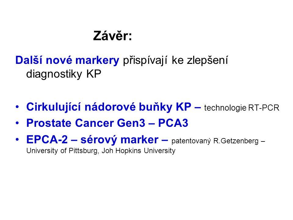 Závěr: Další nové markery přispívají ke zlepšení diagnostiky KP