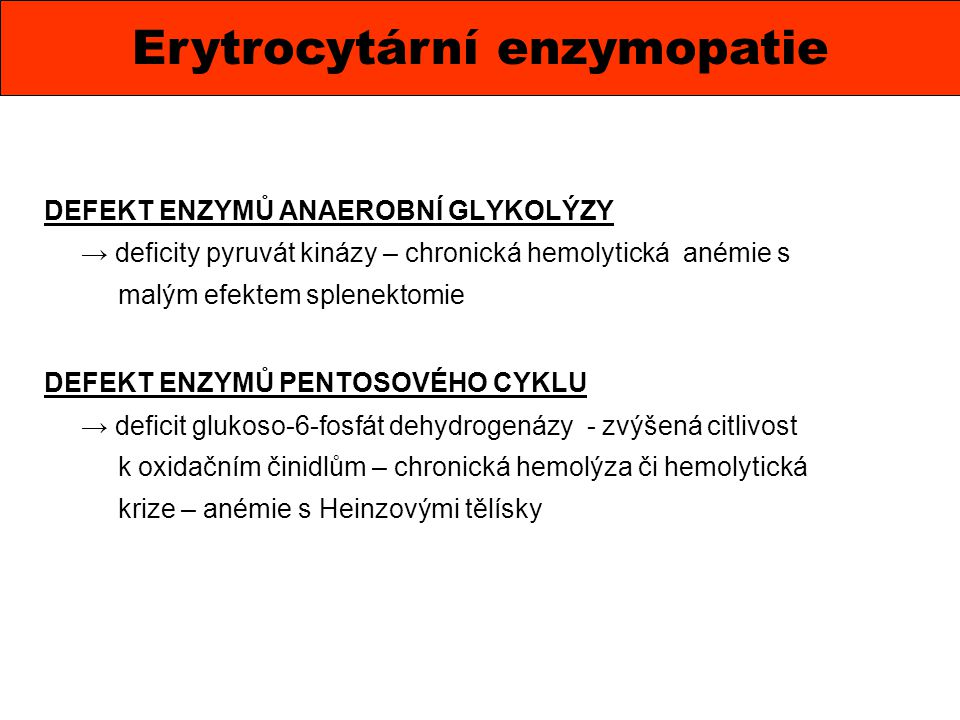 Erytrocytární enzymopatie