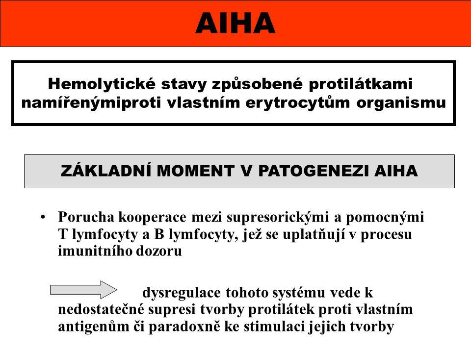 AIHA Hemolytické stavy způsobené protilátkami