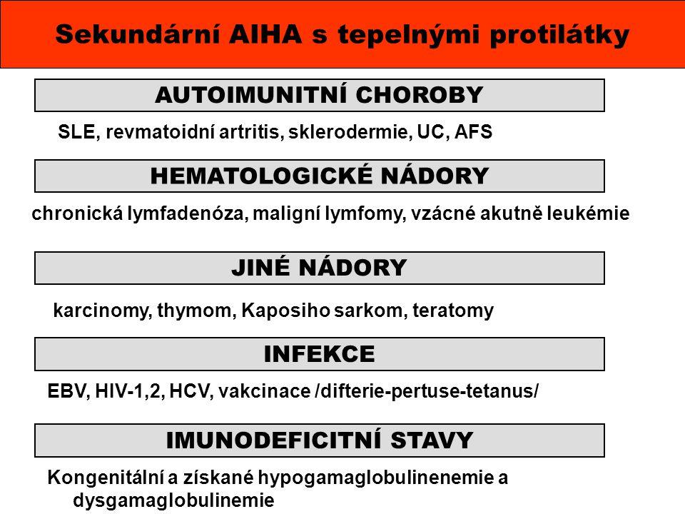 Sekundární AIHA s tepelnými protilátky