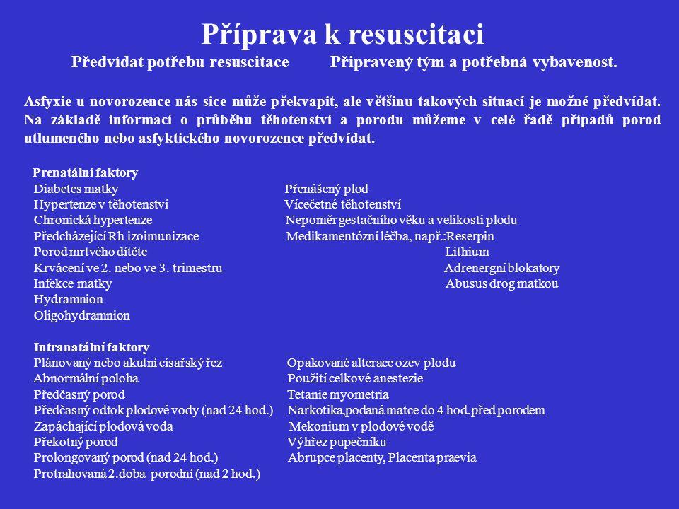 Příprava k resuscitaci