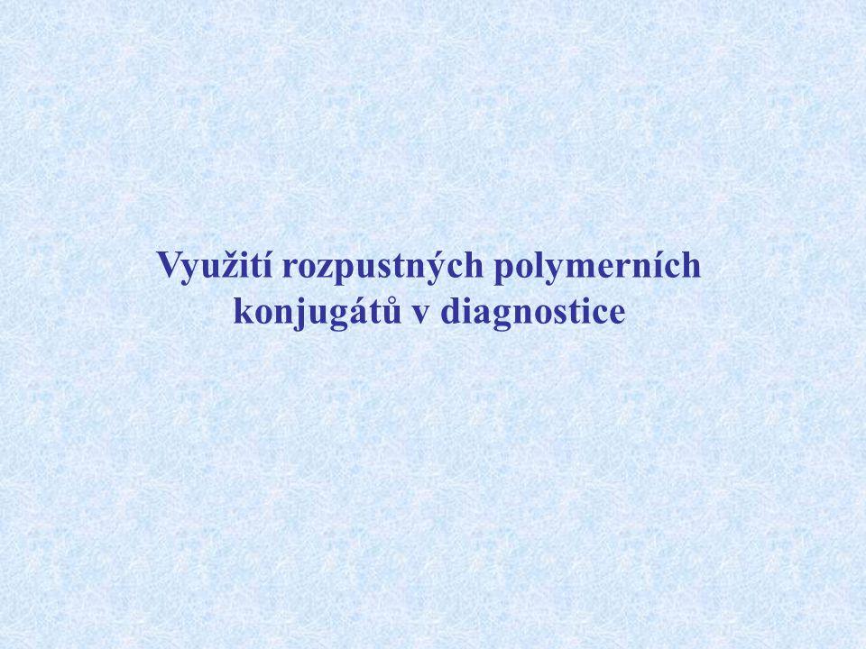 Využití rozpustných polymerních konjugátů v diagnostice