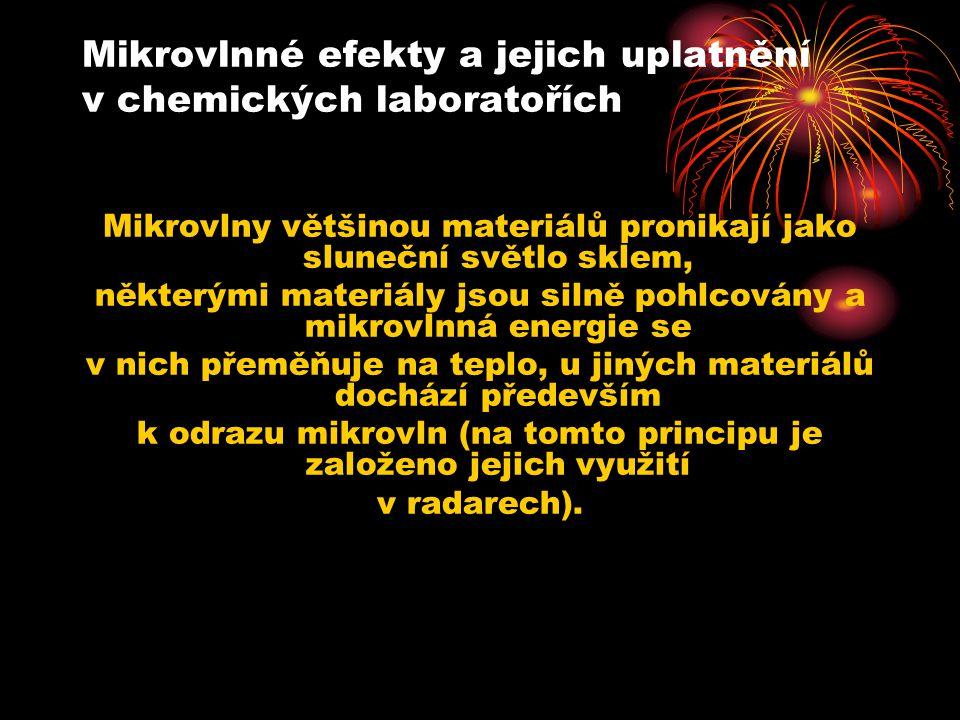 Mikrovlnné efekty a jejich uplatnění v chemických laboratořích