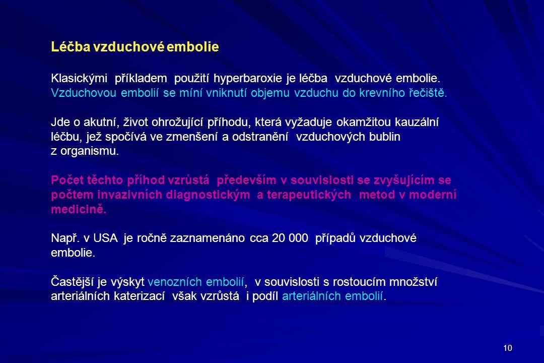 Léčba vzduchové embolie