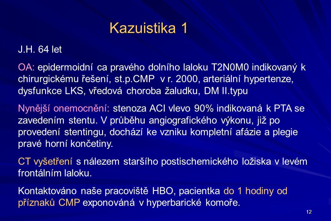 Kazuistika 1 J.H. 64 let.