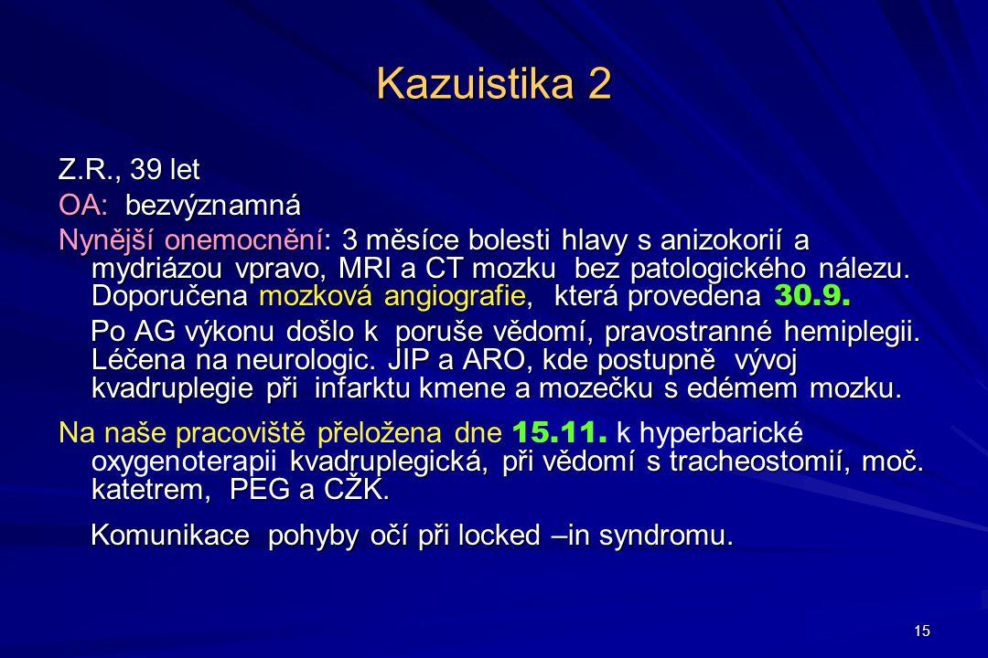 Kazuistika 2 Z.R., 39 let OA: bezvýznamná
