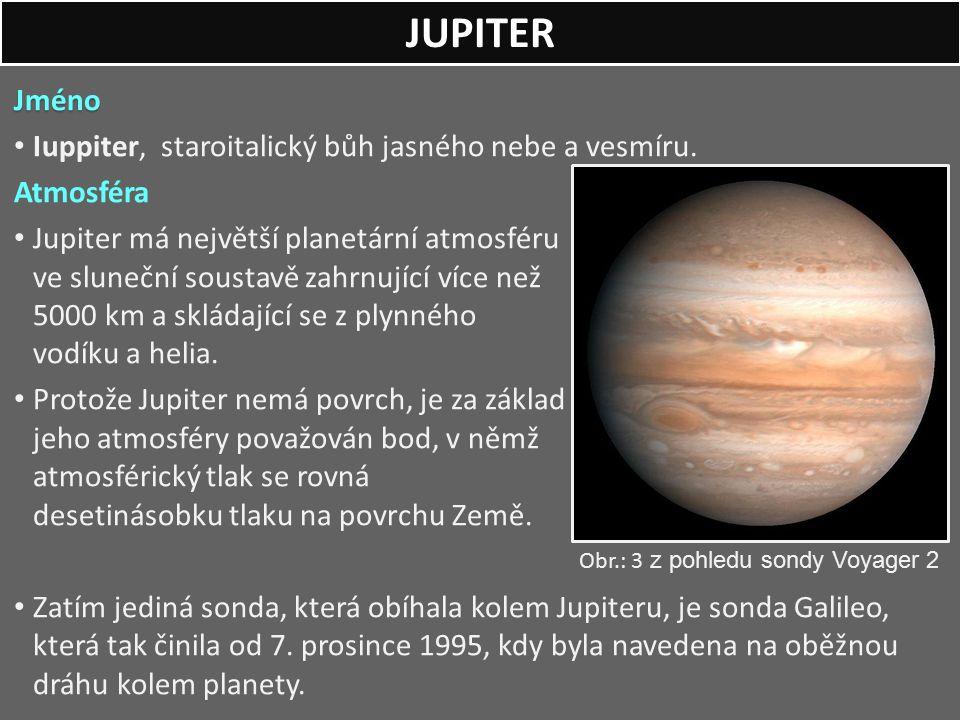 JUPITER Jméno Iuppiter, staroitalický bůh jasného nebe a vesmíru.