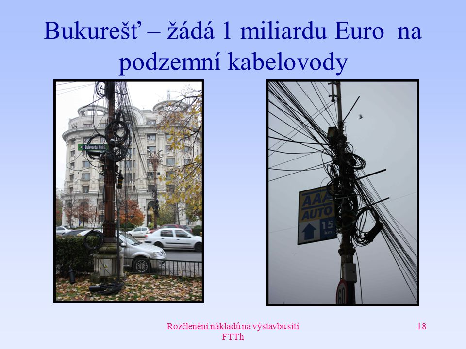 Bukurešť – žádá 1 miliardu Euro na podzemní kabelovody