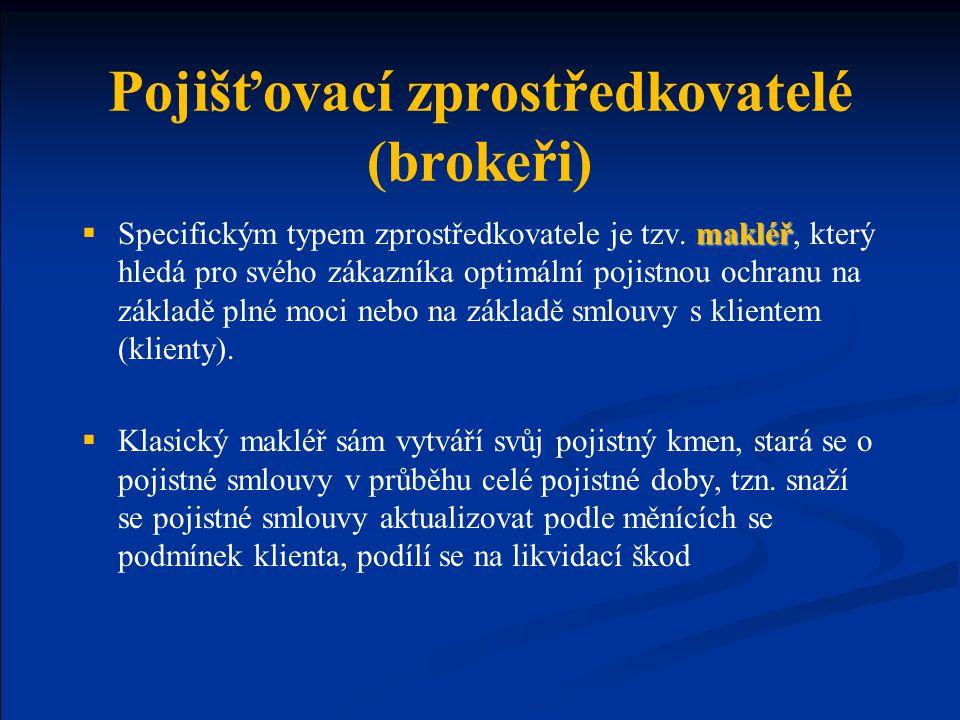 Pojišťovací zprostředkovatelé (brokeři)