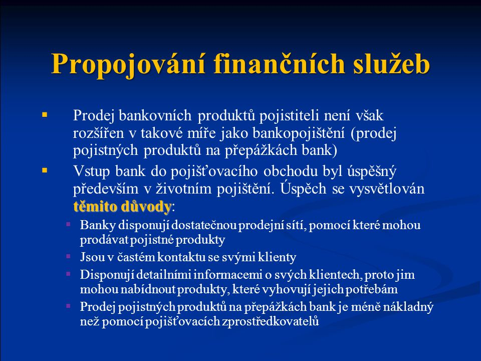 Propojování finančních služeb