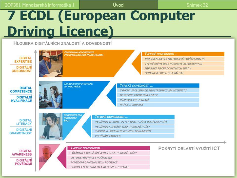 7 ECDL (European Computer Driving Licence)