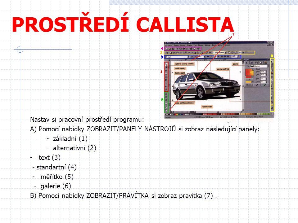 PROSTŘEDÍ CALLISTA