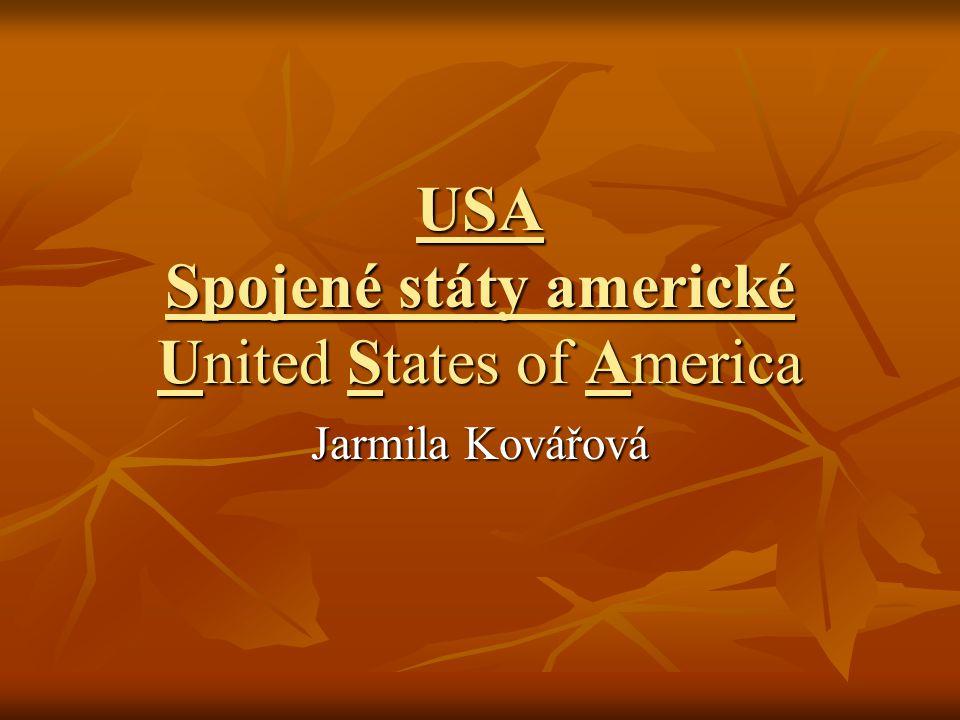 USA Spojené státy americké United States of America