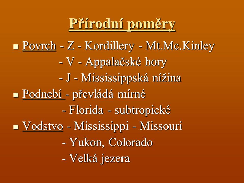 Přírodní poměry Povrch - Z - Kordillery - Mt.Mc.Kinley
